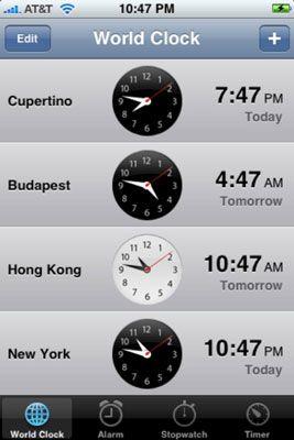 ���� - Como usar o Relógio Mundial no seu iPhone