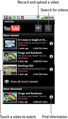 ���� - Como usar o aplicativo do YouTube no seu Droid X