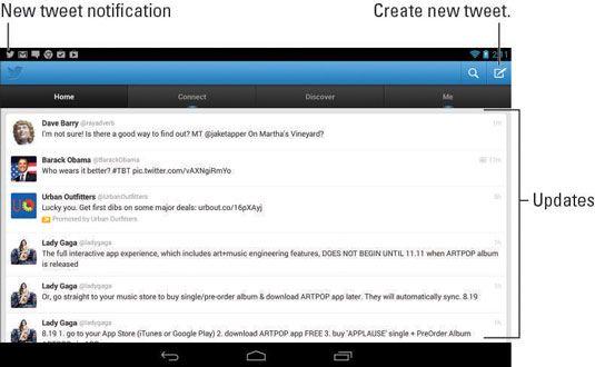 ���� - Como usar o Twitter no Tablet Nexus 7