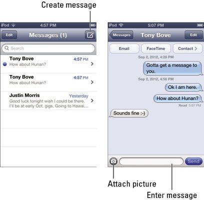 ���� - Como usar seu iPod Touch para enviar mensagens de texto