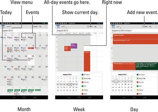 ���� - Como exibir seu calendário em seu Nexus 7 Tablet