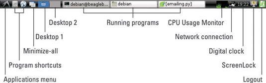 ���� - Como trabalhar com vários desktops BeagleBone
