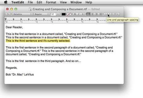 ���� - Como trabalhar com texto e adicionar gráficos em TextEdit no Mac OS X Mavericks