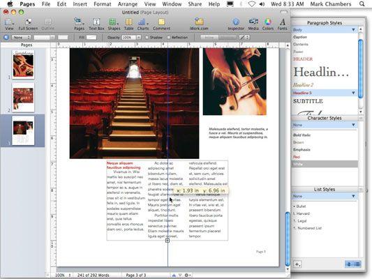 ���� - Como trabalhar com texto em Páginas