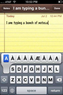 ���� - Como escrever notas em seu iPhone com o Notes App