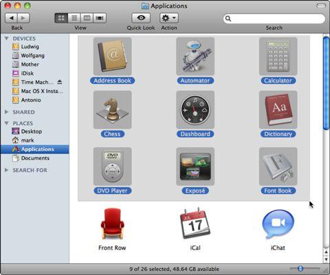 ���� - Sugestões para a seleção de ícones e Truques para Mac OS X Snow Leopard