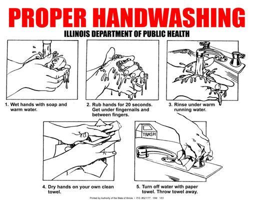 ���� - Implementar procedimentos adequados de lavagem das mãos em seu caminhão Alimentos