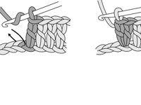 ���� - Aumentar Duplo Crochet no meio ou final de uma fila