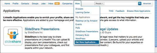 ���� - Instalar aplicativos do LinkedIn para destacar para a contratação de gerentes
