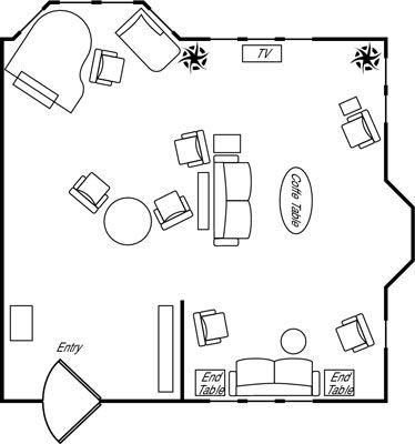 ���� - Interior Design Princípios: abordagens para a Sala Layouts