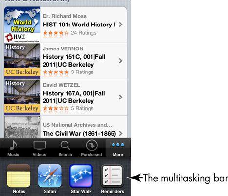 ���� - iPhone 4S Multitarefa Basics e gestos para a terceira idade