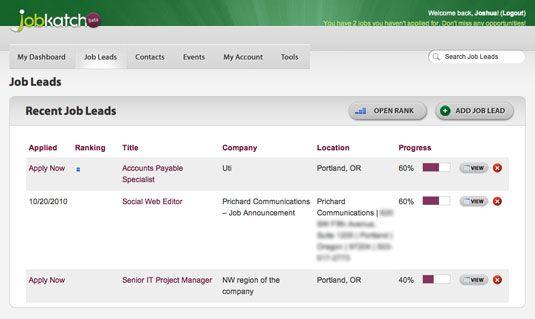 ���� - JobKatch ajuda a organizar sua busca de trabalho através de Social Media