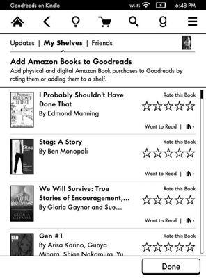 ���� - Paperwhite Kindle e Integração Goodreads