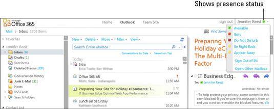 ���� - Indicador de presença on-line Lync em aplicativos do Office