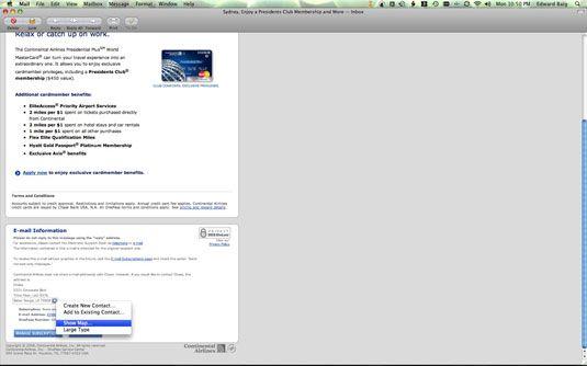 ���� - Características Mac E-Mail