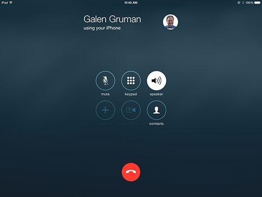 ���� - Fazer chamadas de telefone de seu iPad para o Trabalho
