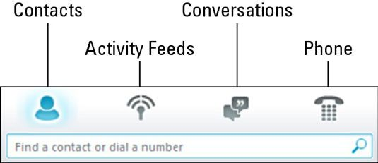 ���� - Gerenciar contatos e conversas com Lync Online