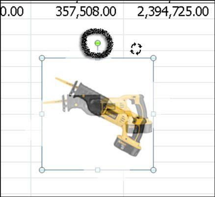 Use a alça de rotação para girar formas ou outros objetos.