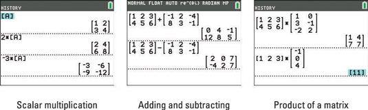 ���� - Matrix Aritmética na calculadora TI-84 Plus