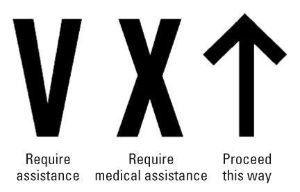 ���� - Métodos para a sinalização de busca e equipes de resgate