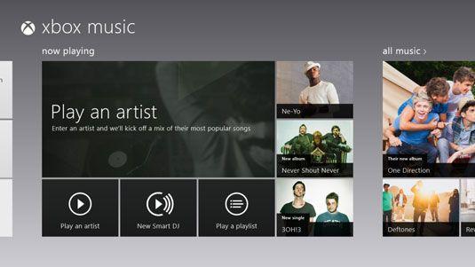 ���� - A música em uma superfície através do Xbox Music Pass