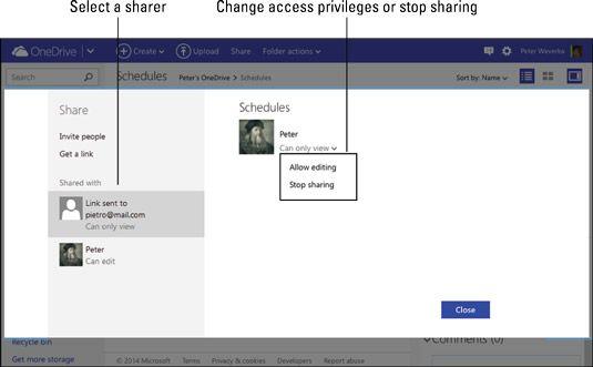 ���� - Escritório para iPad e Mac: Investigar e Alterando como os arquivos e pastas são compartilhados no onedrive
