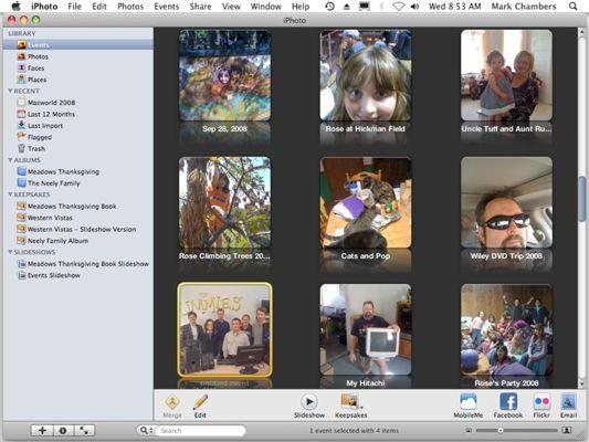 ���� - Organize Eventos Foto no iPhoto