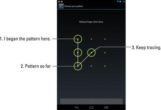 ���� - Opções de senha para o seu Nexus 7 Tablet