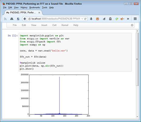 ���� - Executando uma Transformada Rápida de Fourier (FFT) em um arquivo de som