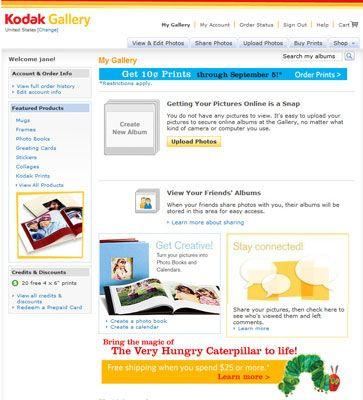 ���� - Publicação de suas imagens digitais para um compartilhamento de fotos on-line site