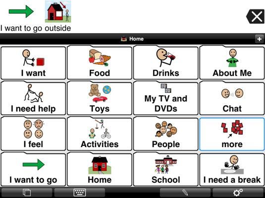 ���� - App iPad Proloquo2Go para deficientes Student Speech