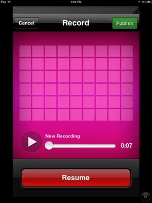 ���� - Publicar Classroom iPad Podcasts sobre AudioBoo ou iPadio