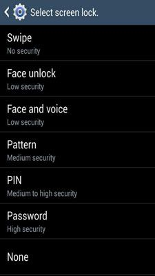 ���� - Coloque um bloqueio de tela no seu Galaxy S 4