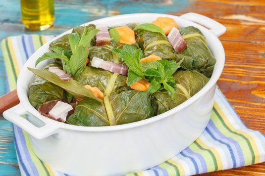 ���� - Receita para enchidos Kale Leaves