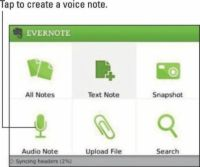���� - Grave uma nota de voz sobre Evernote para dispositivos BlackBerry