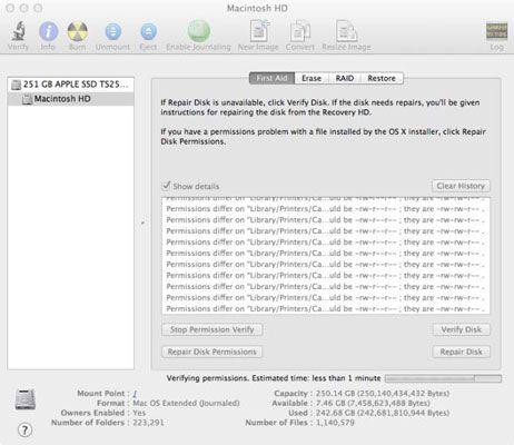 ���� - Reparar um disco rígido danificado no seu Mac com o Utilitário de Disco