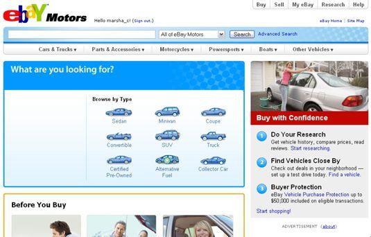 ���� - Venda no eBay Motors