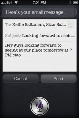 ���� - Enviando e-mail para vários destinatários com Siri