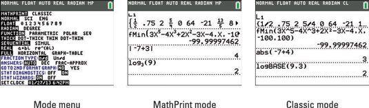 ���� - Defina o Modo de sua calculadora TI-84 Plus
