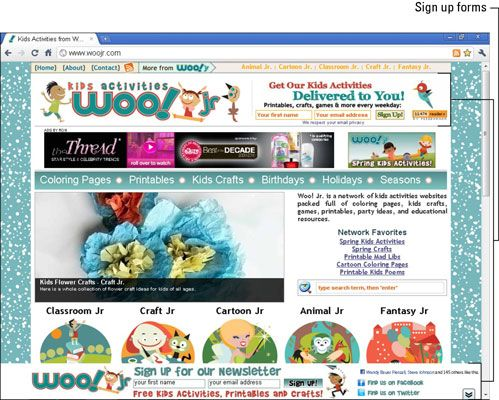 ���� - Configurar formulários de inscrição em Your Mom Blog