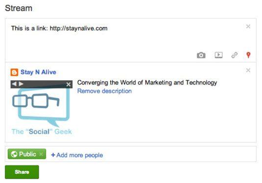���� - Partilha, voltar a partilhar e comentar Mensagens do Google+