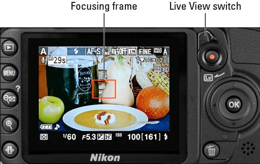 ���� - Tiro Ainda fotos em modo Live View da Nikon D3100