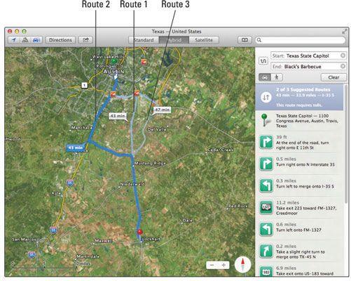 ���� - Truques Mapa inteligentes no OS X Mavericks