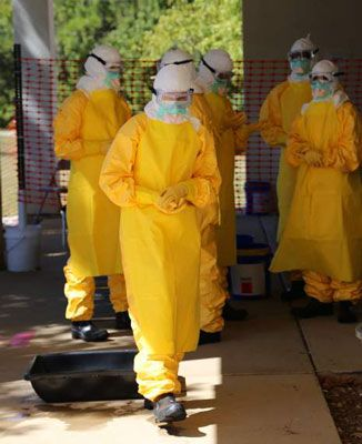 ���� - Medidas Especiais de Prevenção de Ebola para Trabalhadores da Saúde