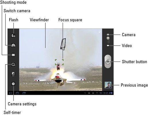 ���� - Especiais Opções de Câmera Samsung Galaxy Tab