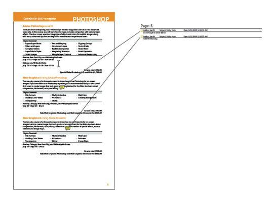 Um novo documento PDF é criado, listando todos os comentários.