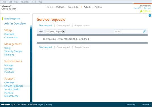 ���� - Suporte para uma implementação do Office 365