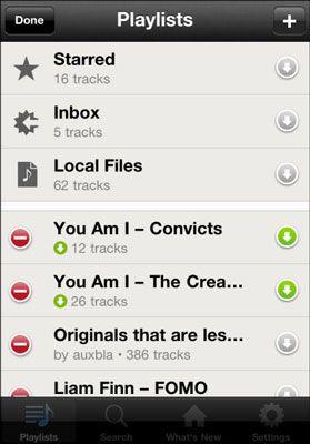 ���� - Sincronização offline Spotify reprodução diretamente de seu dispositivo móvel