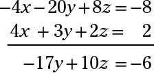 ���� - Sistemas com três equações lineares