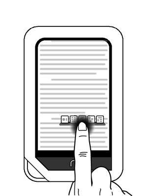���� - Tap, Tap duas vezes, e Pressione e segure em um Tablet Nook
